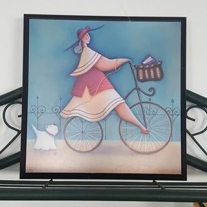 Other - Ladies Bicycling Wall Decor